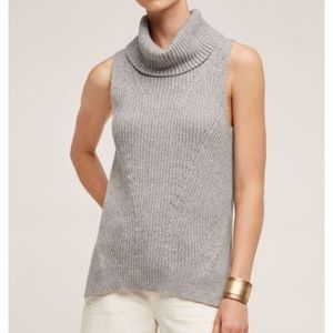Anthropologie Sleeveless Sweater Cowl Neck Small